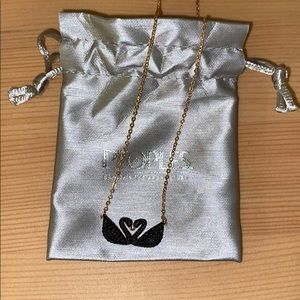 Swarovski black and rose gold necklace